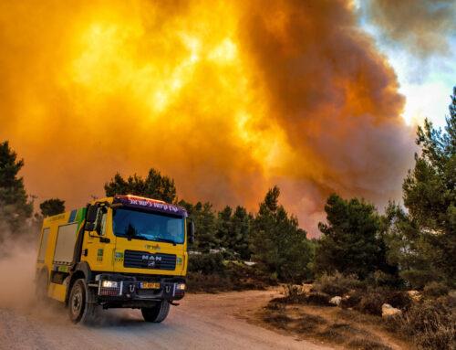 Omfattande bränder i Jerusalem och i södra Israel